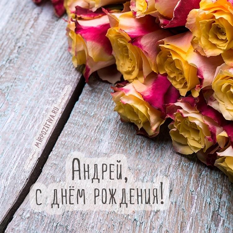 Красивые открытки с днем рождения Андрей поздравления004