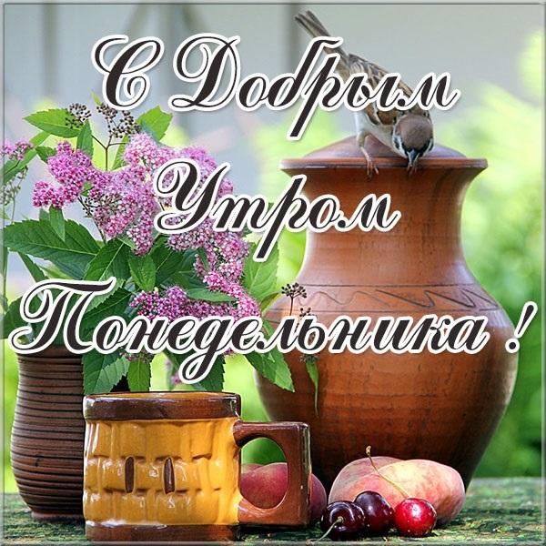 Красивые открытки с добрым утром в понедельник011
