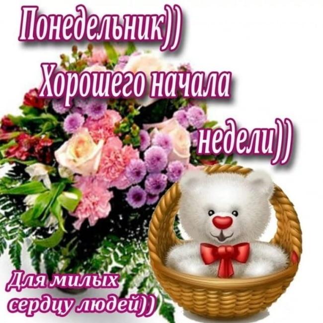 Красивые открытки с добрым утром в понедельник017