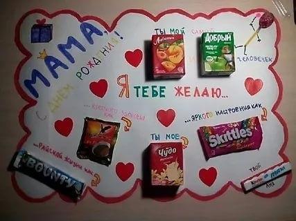Красивые плакаты маме на день рождения001