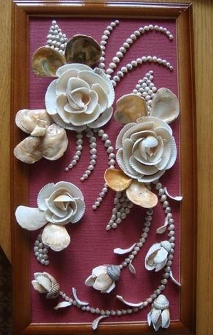 Красивые поделки из ракушек на тему море001