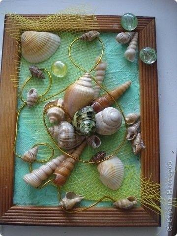 Красивые поделки из ракушек на тему море002