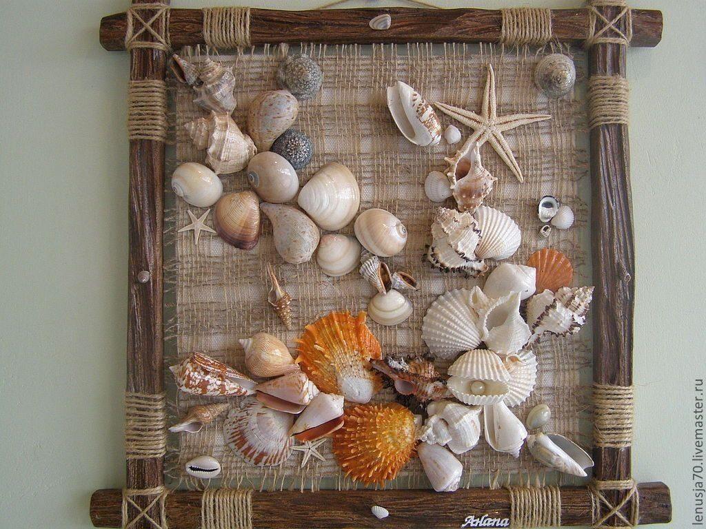 Красивые поделки из ракушек на тему море003