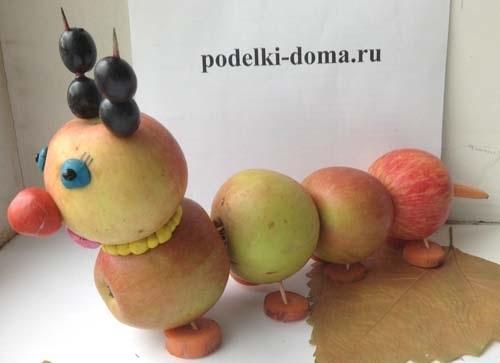 Красивые поделки осень из яблок009