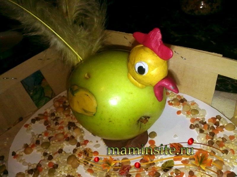 Красивые поделки осень из яблок011
