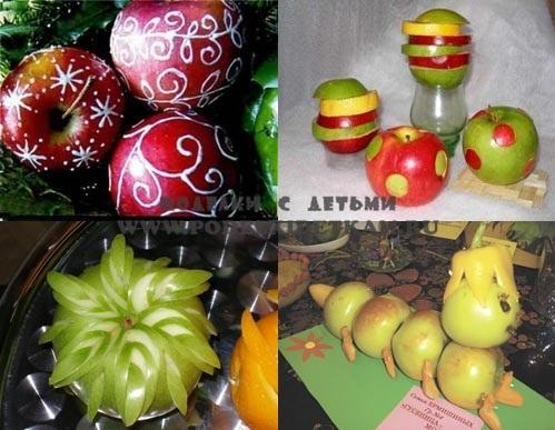 Красивые поделки осень из яблок015