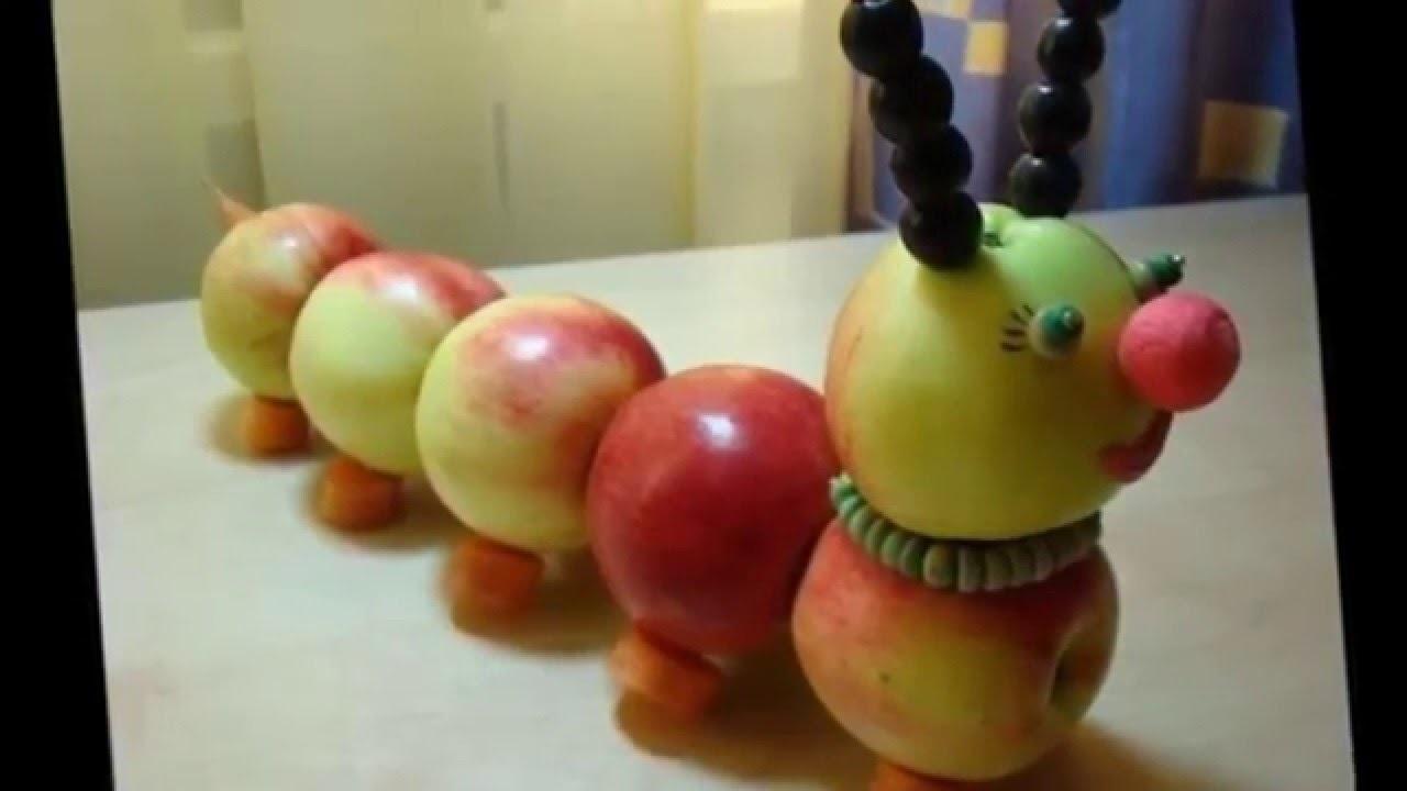 Красивые поделки осень из яблок020