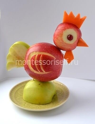 Красивые поделки осень из яблок023