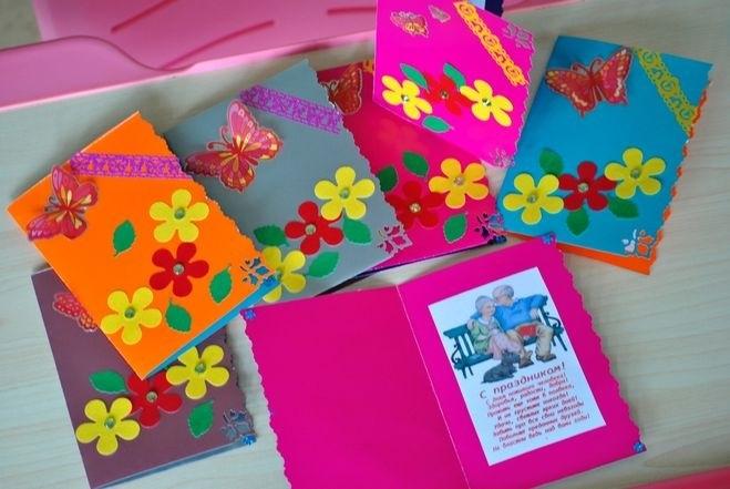 Красивые поделки открытки ко дню пожилого человека016