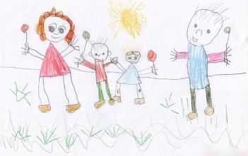 Красивые рисунки детей на тему моя семья 2 класс (10)