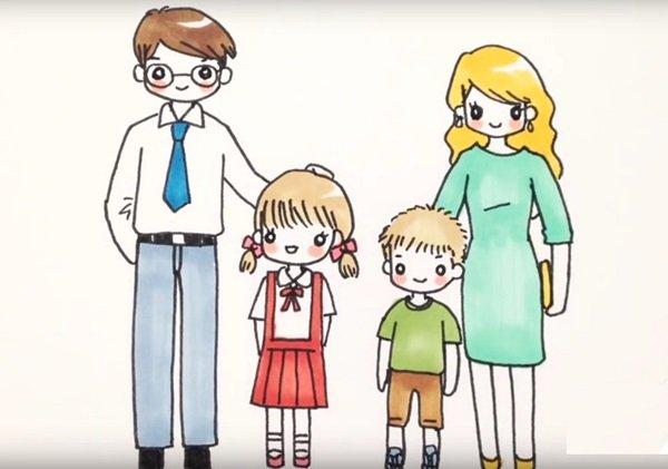 Красивые рисунки детей на тему моя семья 2 класс (17)