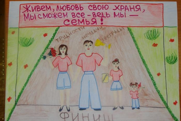 Красивые рисунки детей на тему моя семья 2 класс (21)