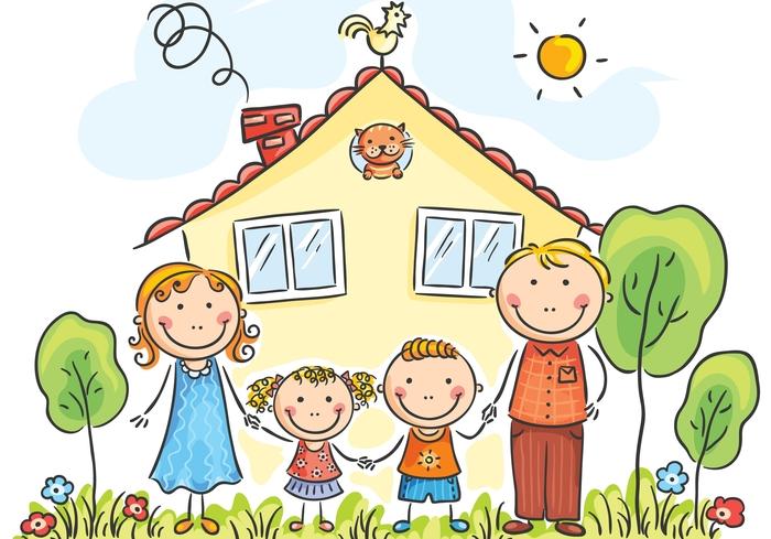 Красивые рисунки детей на тему моя семья 2 класс (22)