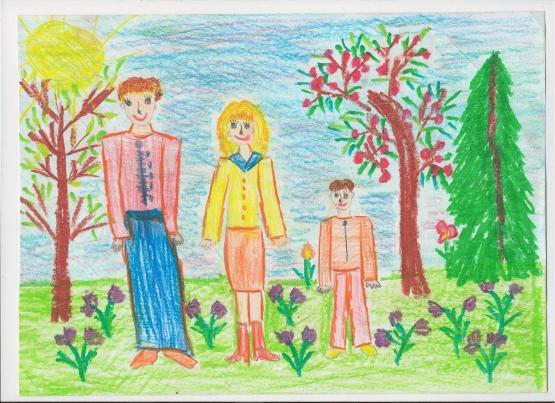 Красивые рисунки детей на тему моя семья 2 класс (24)