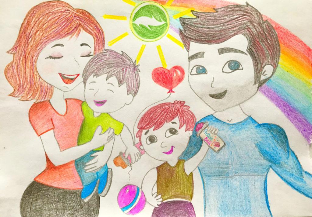 Красивые рисунки детей на тему моя семья 2 класс (26)