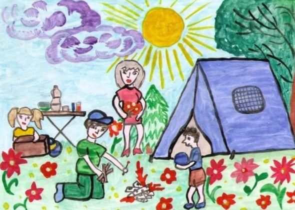 Красивые рисунки детей на тему моя семья 2 класс (9)