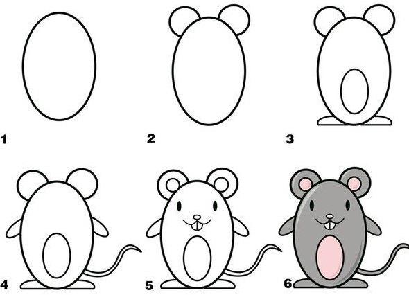 Красивые рисунки карандашом для детей 4 лет для девочек (11)