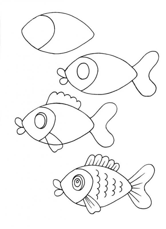 Красивые рисунки карандашом для детей 4 лет для девочек (12)