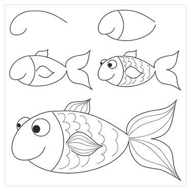 Красивые рисунки карандашом для детей 4 лет для девочек (17)