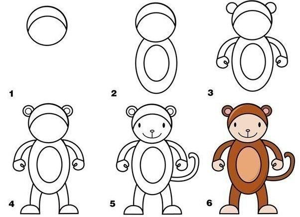 Красивые рисунки карандашом для детей 4 лет для девочек (6)