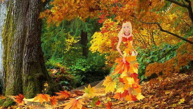 Красивые фото девушек в осеннем лесу - подборка (5)