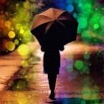 Красивые фото девушек осенью со спины с зонтом (10)