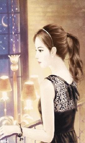 Красивые фото девушка на фоне луны014