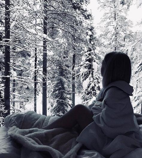Красивые фото зимнего вида из окна001