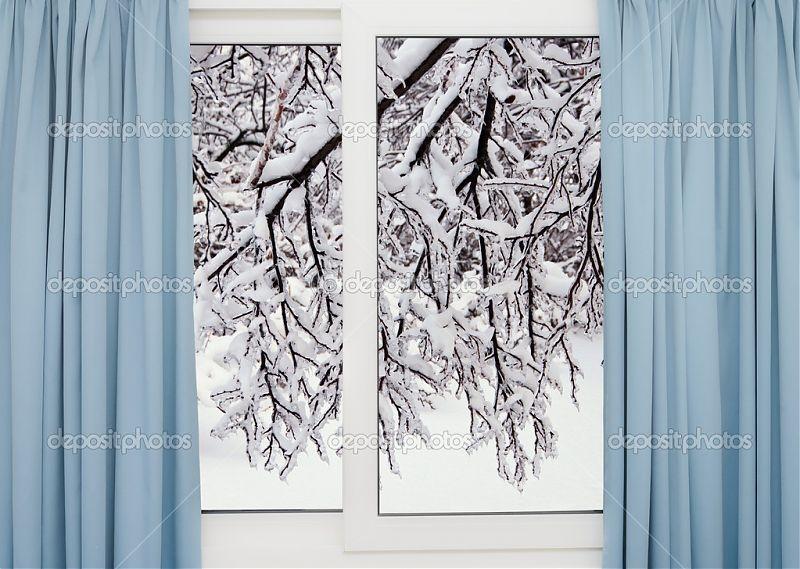 Красивые фото зимнего вида из окна016
