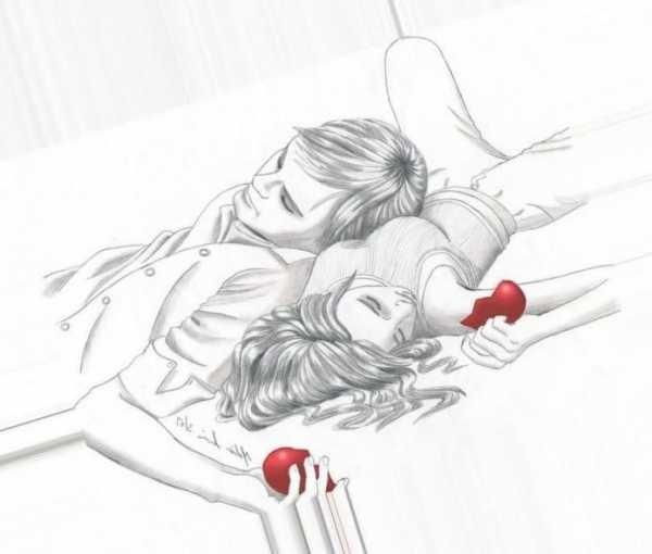 Красивые фото парень и девушка рисунок карандашом003