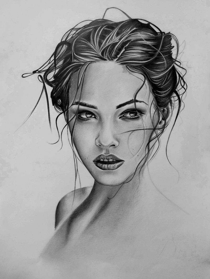 Красивые фото парень и девушка рисунок карандашом011