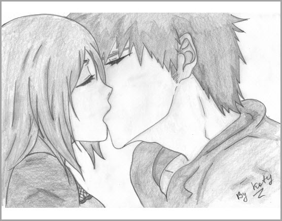 Красивые фото парень и девушка рисунок карандашом012