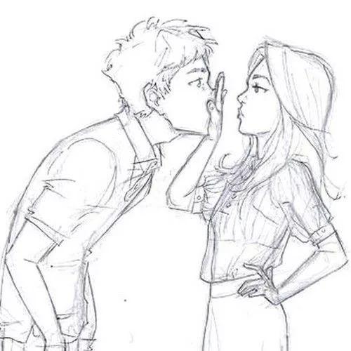 Красивые фото парень и девушка рисунок карандашом013