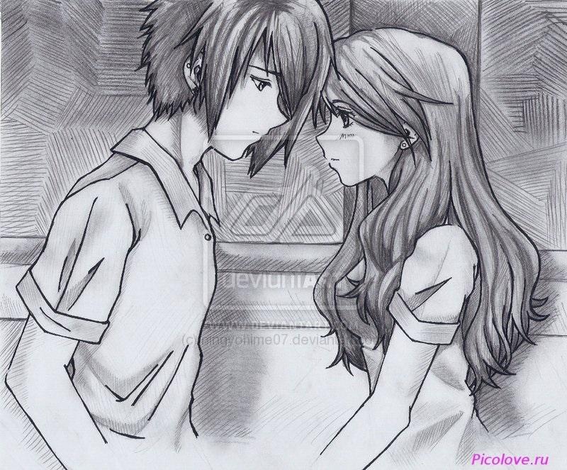 Красивые фото парень и девушка рисунок карандашом016
