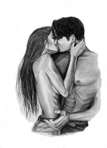 Красивые фото парень и девушка рисунок карандашом018