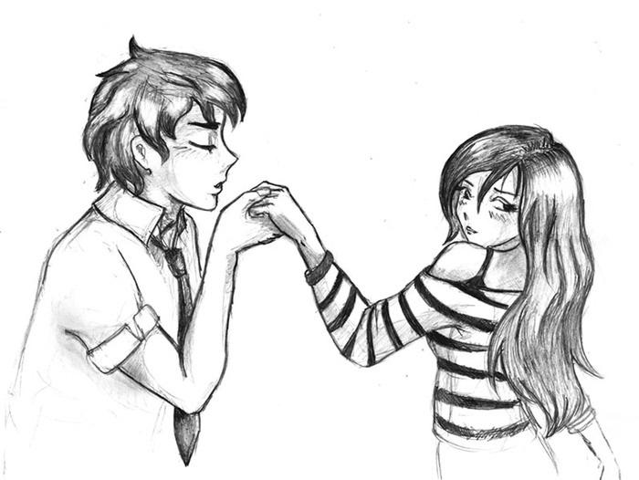 Красивые фото парень и девушка рисунок карандашом019