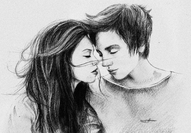 Красивые фото парень и девушка рисунок карандашом021