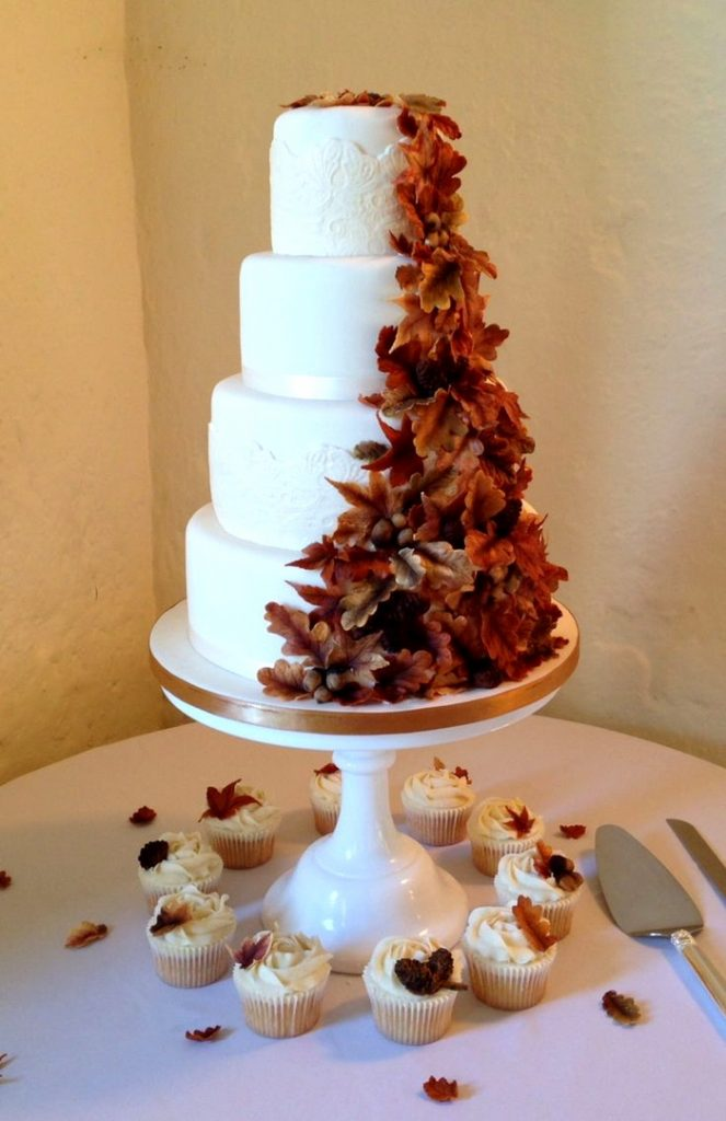 Красивые фото свадебного торта в осеннем стиле (1)