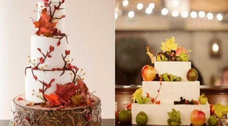 Красивые фото свадебного торта в осеннем стиле (10)