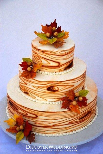 Красивые фото свадебного торта в осеннем стиле (12)
