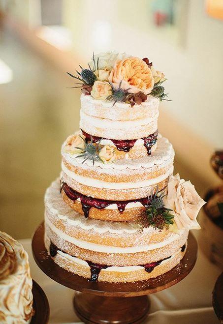 Красивые фото свадебного торта в осеннем стиле (13)