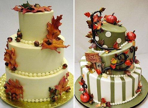 Красивые фото свадебного торта в осеннем стиле (14)