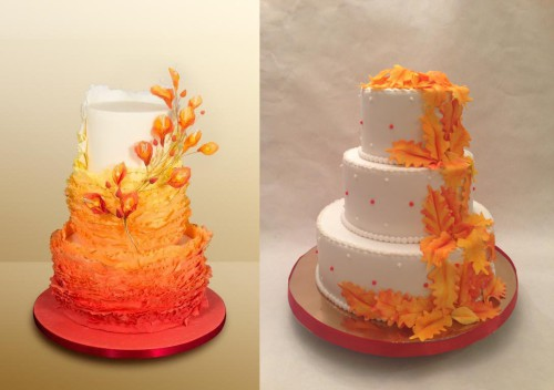 Красивые фото свадебного торта в осеннем стиле (15)