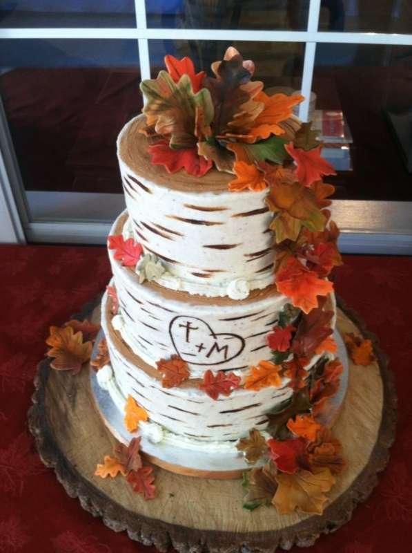 Красивые фото свадебного торта в осеннем стиле (16)