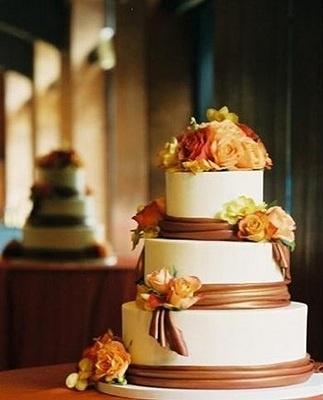 Красивые фото свадебного торта в осеннем стиле (19)