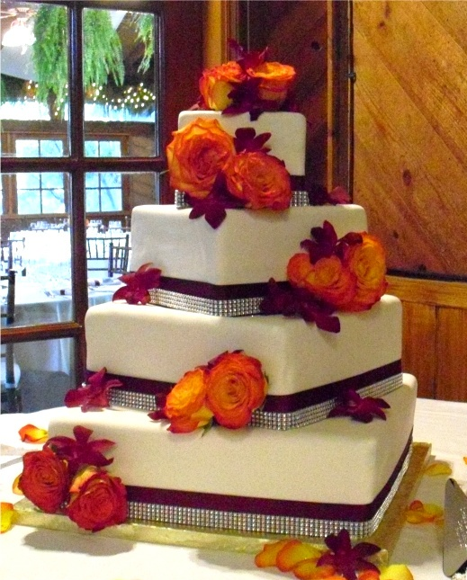 Красивые фото свадебного торта в осеннем стиле (2)