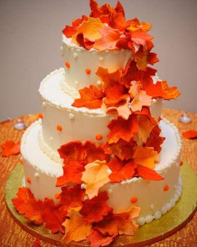 Красивые фото свадебного торта в осеннем стиле (23)