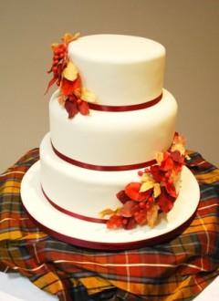 Красивые фото свадебного торта в осеннем стиле (24)