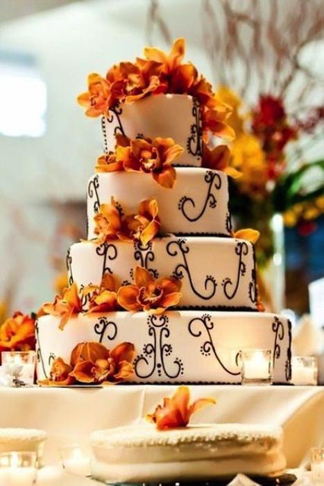 Красивые фото свадебного торта в осеннем стиле (26)