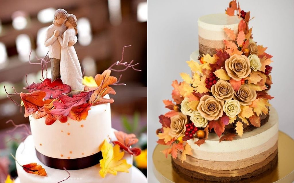 Красивые фото свадебного торта в осеннем стиле (27)